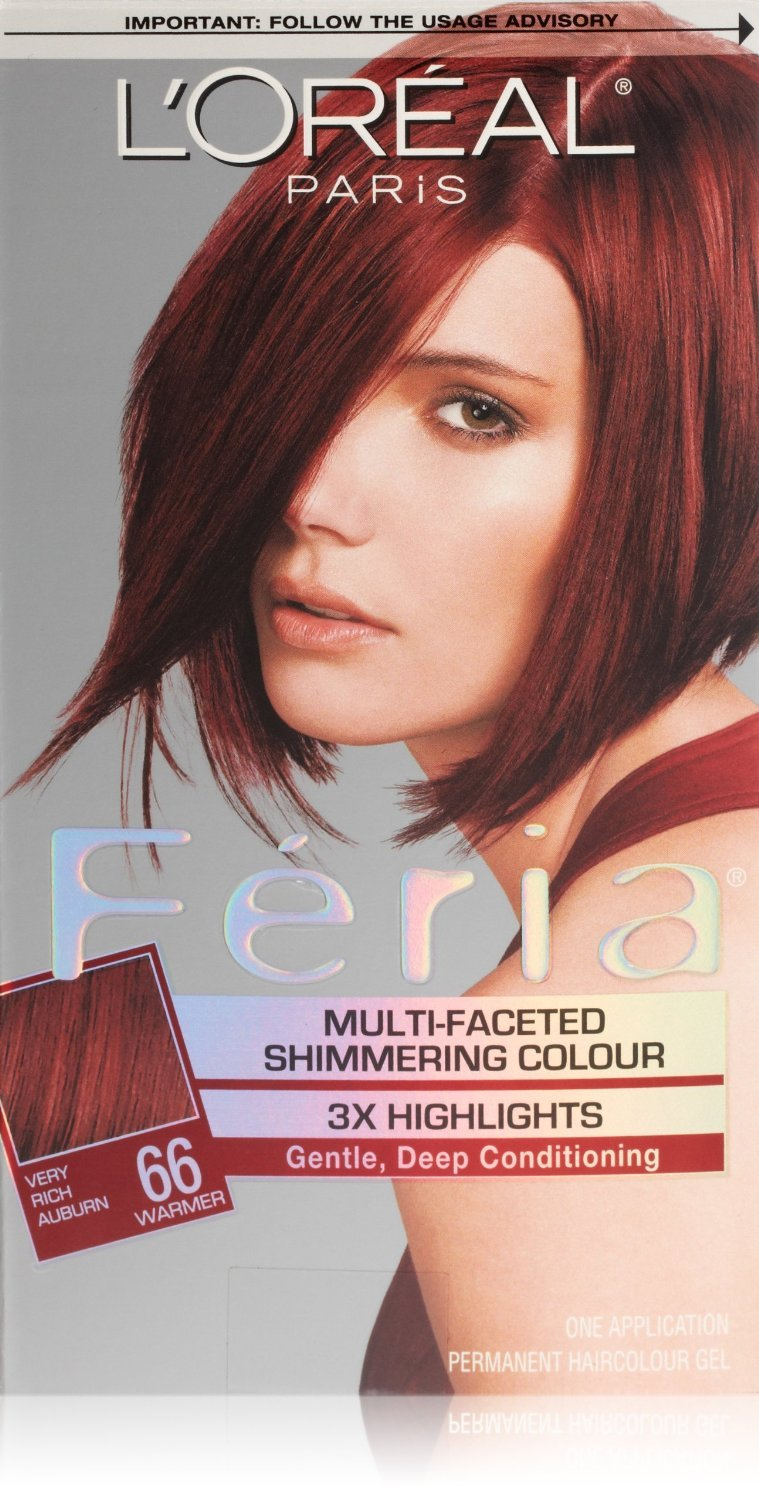 Loreal Feria Hair Color 66 Ruby Fusion