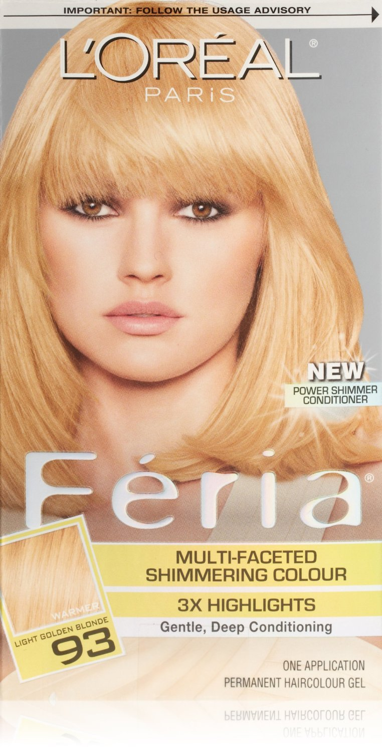 Image 0 of Loreal Feria Permanent Hair Color 93 Candle Glow