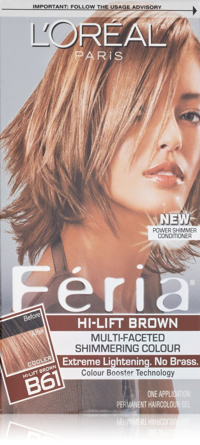 Image 0 of Loreal Feria Hair Color B61 Downtown Brown