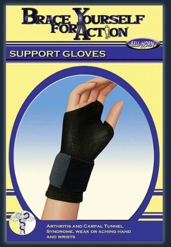 Bell-Horn Support Gloves in Black Medium Size 1 Pr