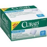 Image 0 of Curad Alcohol Swabs Antiseptic Wipes 200 Ct.