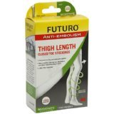 Futuro Anti Embolism Stockings Thigh Length Closed Toe  White Large