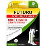 Futuro Anti Embolism Stockings Knee Closed Toe White Extra Large