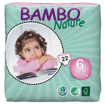 Bambo Nature Eco-Friendly Diapers Size: 6 132CT