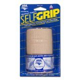 SelfGrip Maximum Support Self-Adhering Athletic Tape / Bandage, 4 Inch