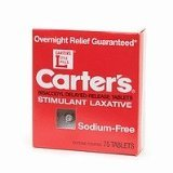 Carter Laxatives Pill Tablet 75 Ct.