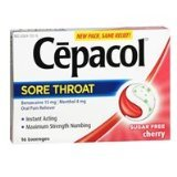 Image 0 of Cepacol Lozenges Max Sugar Free Cherry 16 Ct.