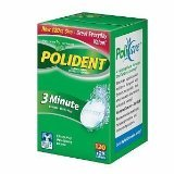 Polident 3 Minute Mint Tablet 120 Ct.