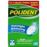 Polident Antibacterial Overnight Denture Cleanser Triplemint 120 Ct.