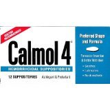 Calmol 4 Hemorrhoidal Suppositories 12 Ct