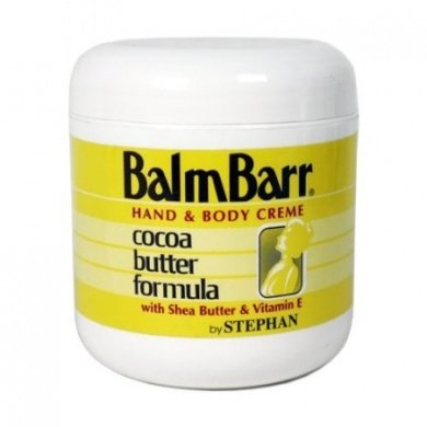 Balm Barr Hand & Body Creme Cocoa Butter Formula 6oz (Yellow Jar)