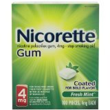 Image 0 of Nicorette 4 Mg Fresh Mint Gum 100 Ct.
