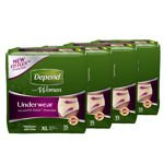 Depend for Women Underwear Size XL 4 pack 15ct (60 total)