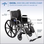 Excel 2000 Deluxe Wheelchair by Medline