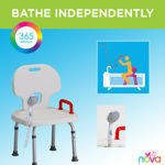 Bath Bench with Back and Hand Held Shower by Nova