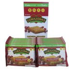 CORAZONAS Heart Healthy Cranberry Flax Oatmeal Squares 72 Ct