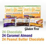 Smart For Life Gluten Free & All-Natural Protein Bars Variety 72 Ct
