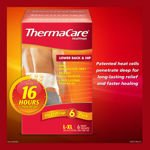 ThermaCare 16 Hours HeatWraps Back & Hip L/XL Wraps 6 Ct