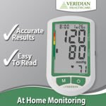 Upper Arm Blood Pressure Monitor with Jumbo Display by Veridian Healthcare