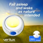 Verilux Rise and Shine Serenity Wake-up Light with Orbit Relaxation Lamp