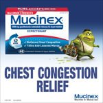 Image 0 of Mucinex 12 Hours Maximum Strength Chest Congestion Relief Tablet 48 Ct