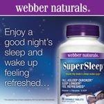 Webber Naturals Super Sleep 90 Chewable Tablets