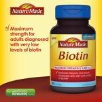 Nature Made Biotin 5,000 Mcg 250 Softgels
