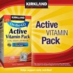 Kirkland Signature Active Vitamin Pack 100 Packets