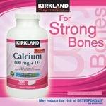 Kirkland Signature Calcium 600 Mg + D3 500 Tablets