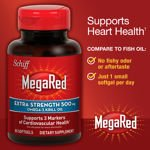 Image 0 of Schiff MegaRed Extra Strength 500 Mg Omega-3 Krill Oil 80 Softgels