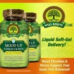 Well Roots Mood Up Stress Down 120 Liquid Softgels