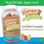 Yummi Bear Organics Multi-Vitamin & Mineral 180 Gummy Bears