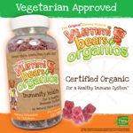 Yummi Bears Organics Immunity Health 180 Gummy Bears