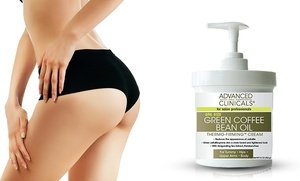 Advanced Clinicals Spa Size Green Coffee Bean Oil Thermo-Firming Cream 16 Oz