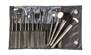 Image 2 of Professional Gunmetal Cosmetic Brush Set 12 Pc