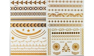 Image 0 of Temporary Gold Jewelry Tattoo Sheets