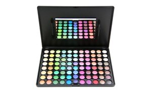 Beaut? Basics Warm 88-Color Eye-Shadow Palette with Dual-End Foam Applicator
