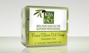 Kiss My Face Naked Pure Olive Oil Bar Soap 5 Pk Of 3 Bar