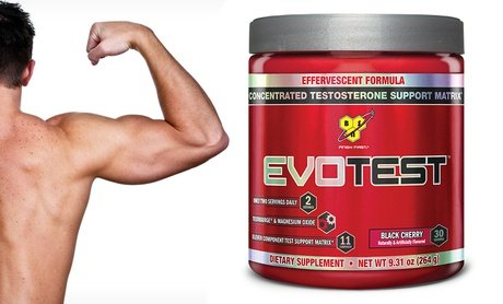 BSN Evotest Testosterone-Support Powder in Black Cherry
