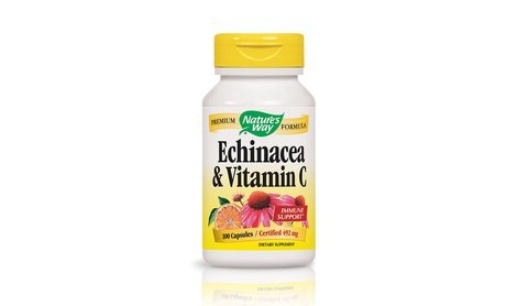 Image 0 of Nature's Way Echinacea-Vitamin C Immune System Supplement 100 Count