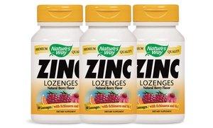 Image 0 of Nature's Way Zinc Lozenges 3x60 Ct