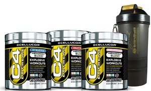 Cellucor C4 Pre-Workout Supplement with Free SmartShake Bottle 20 Oz