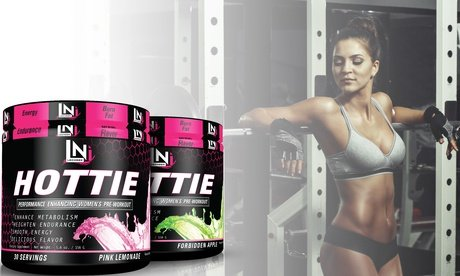 Image 2 of Lecheek Hottie Women's Pre-Workout Supplement in Pink Lemonade 5.6 Oz
