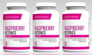 Image 0 of Clark & Ericsson Raspberry Ketones Weight Loss Supplement 3 Pk