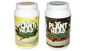 Image 0 of Genceutic Naturals Plant Head Vegan Protein Chocolate Flavor 1.7 Lb