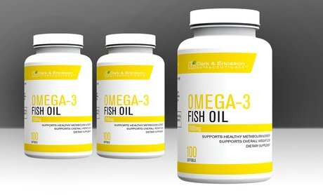 Image 0 of Clark & Ericsson Omega-3 Fish Oil Dietary Supplements 100 Softgels