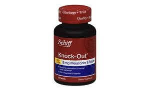 Image 2 of Schiff Knock-Out Melatonin Sleep Aid Supplement 3x50 Ct