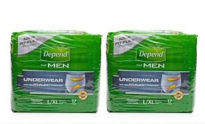 Depend for Men Maximum Absorbency Underwear 2x28 Ct