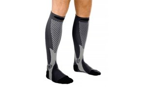 Image 2 of Anti-Sweat, Anti-Odor Compression Socks in Black