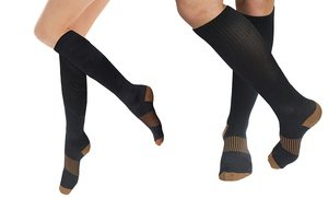 Image 2 of TheraCopper Copper-Infused 10-Point Compression Sport Socks